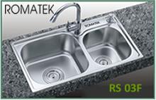 Chậu rửa chén bát inox Romatek RS 03F