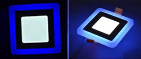 Đèn led vuông 12W viền xanh