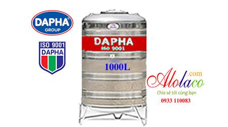 Bồn nước inox 1000l Dapha đứng
