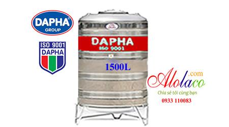 Bồn inox Dapha 1500 lít đứng