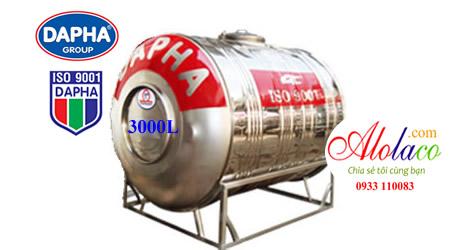 Bồn inox Dapha 3000 lít ngang