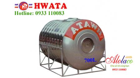 Giá Bồn nước inox Hwata 700 lít nằm