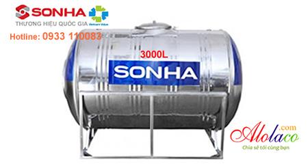Giá bồn nước inox Sơn Hà 3.000 lít nằm (ĐK 1420)