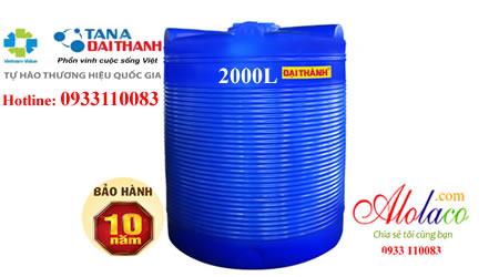 Bồn nhựa Đại Thành 2000L đứng thế hệ mới