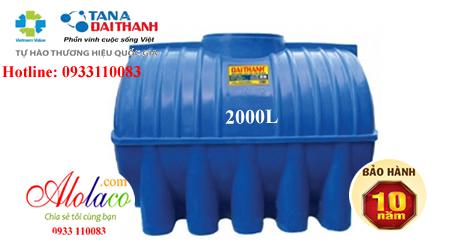 Bồn nhựa Đại Thành 2000L nằm thế hệ mới