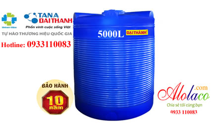 Bồn nhựa Đại Thành 5000L đứng thế hệ mới