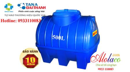 Bồn nhựa Đại Thành 500L nằm thế hệ mới