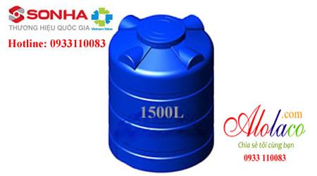 Bồn nhựa Sơn Hà 1500l đứng