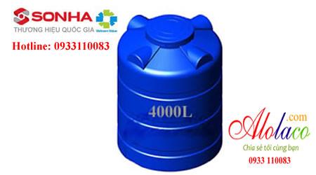Bồn nhựa Sơn Hà 4000l đứng