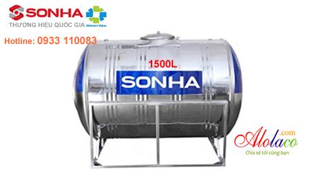 Giá Bồn nước inox Sơn Hà 1.500 lít ngang