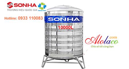 Bồn nước inox Sơn Hà 10000 lít