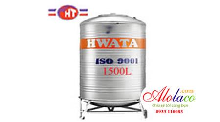 Giá Bồn nước inox Hwata 1.500 lít đứng