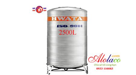 Giá Bồn nước inox Hwata 2.500 lít đứng