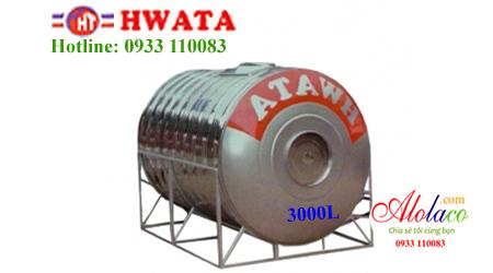 Giá Bồn nước inox Hwata 3.000 lít nằm (ĐK 1160)