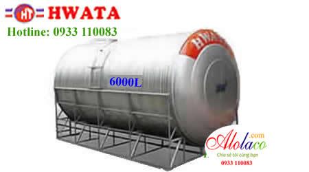 Giá Bồn nước inox Hwata 6.000 lít nằm