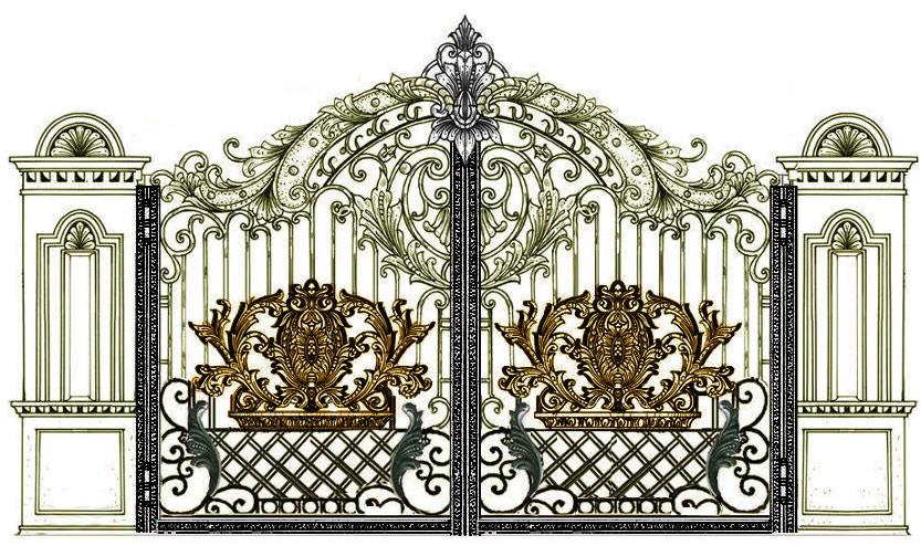 cửa cổng hợp kim nhôm đức