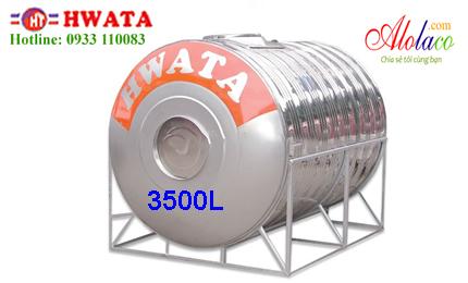 Giá Bồn nước inox Hwata 3.500 lít nằm