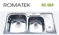 Chậu rửa chén bát inox Romatek RS 06F