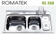 Chậu rửa chén bát inox Romatek RS 26B