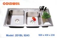 Chậu inox Coldwell 2D1BL9243