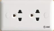ổ cắm đôi 3 chấu Sino S19