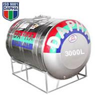 Bồn inox Dapha R 3000L ngang