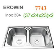 Chậu inox 304 Erowin 7743