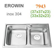 Chậu inox 304 Erowin 7943
