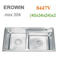Chậu inox 304 Erowin 8447V
