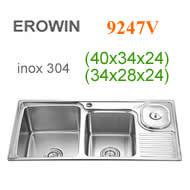 Chậu inox 304 Erowin 9247V