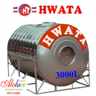 bồn inox Hwata 3000 lít nằm (ĐK 1160)
