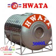 bồn inox Hwata 3000 lít nằm (ĐK 1360)
