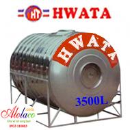 bồn inox Hwata 3500 lít nằm