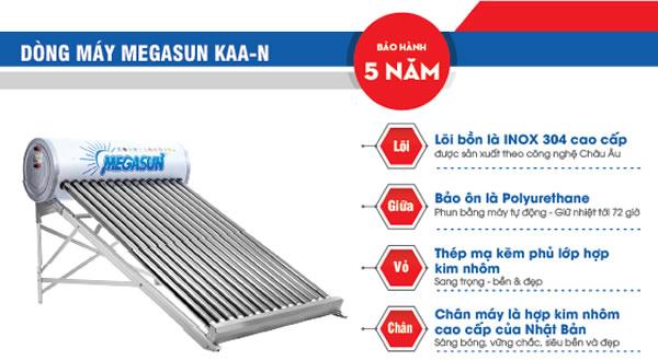 máy nước nóng năng lượng mặt trời megasun KAA-N
